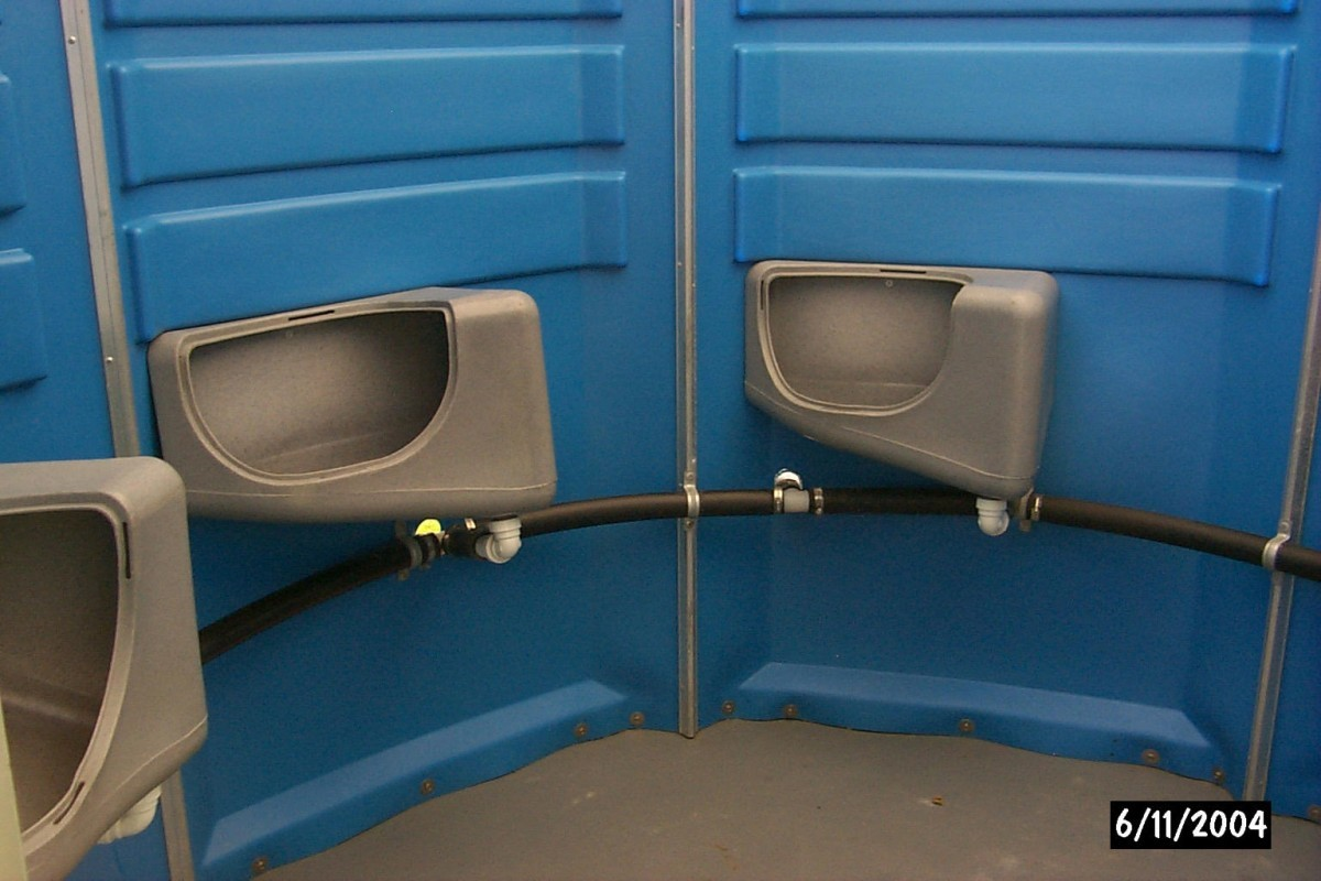 Portable Toilet Urinal Hut,Portable toilet, portable washroom, Johnson's Sanitation Service, Sink Rentals, Septic Services, Septic Tank Pumped, Construction, Parties, Special Events